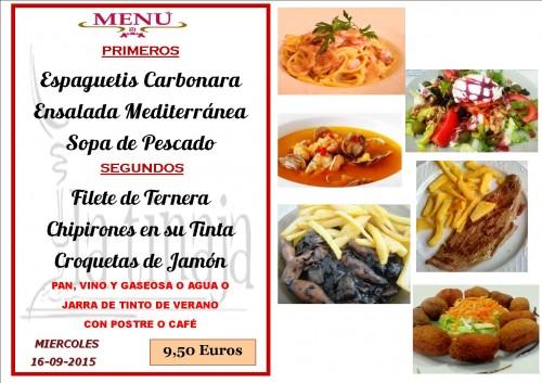 menu del 16 del 9