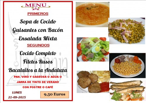 menu del 21 del 9