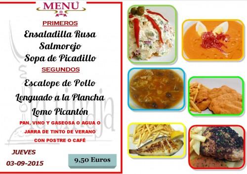 menu del 3 del 92
