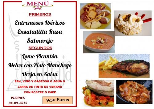 menu del 4 del 9