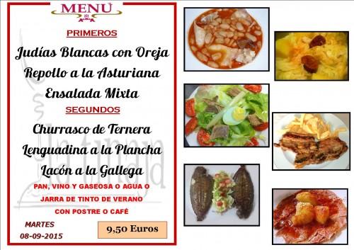 menu del 8 del 9