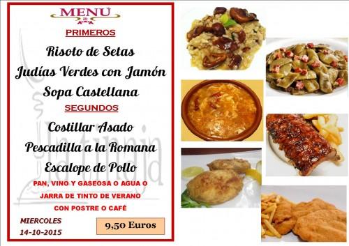 menu del  14 del 10