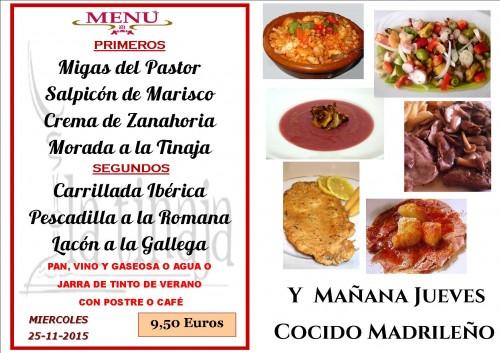 menu del  25 del  11