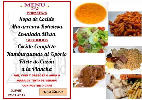 menu del  26 del  11