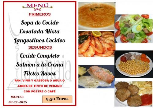 menu del  3 del 11