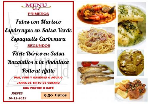 menu del  10 del 12