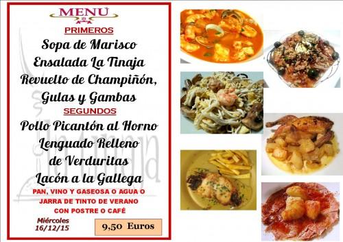 menu del  16 del 12