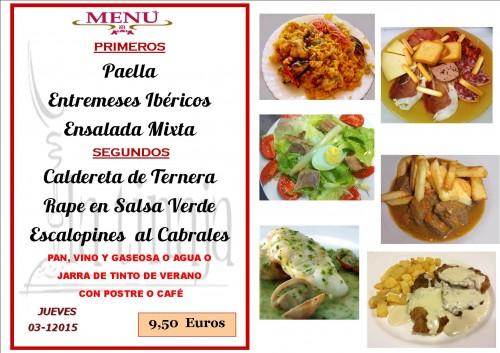 menu del  3 del  12