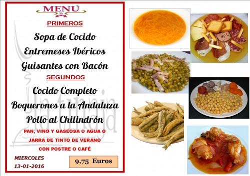 menu del  13 del 1