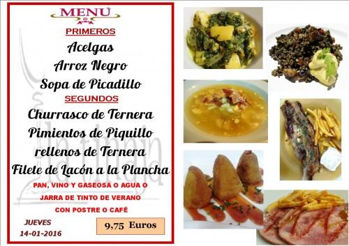 menu del  14 del 1