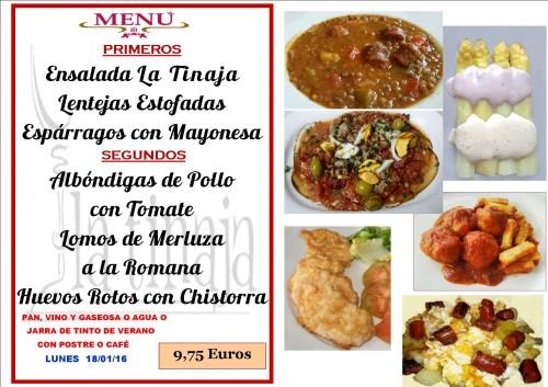 menu del  18 del  1