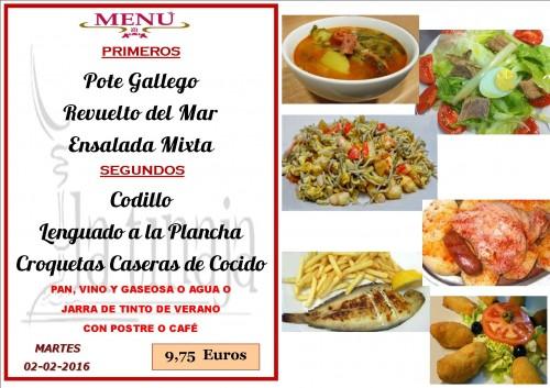 menu del  2 del 2