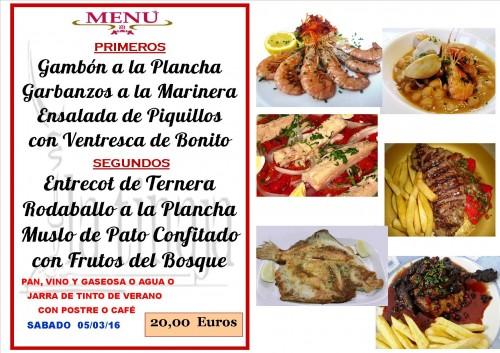menu del  5 del 3
