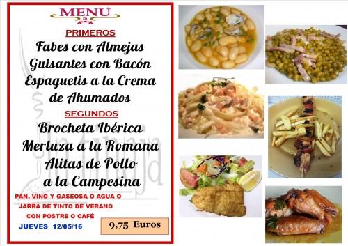 menu del 11 del  5