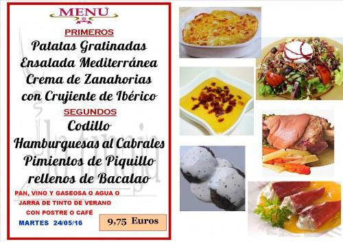 menu del  24  del  5