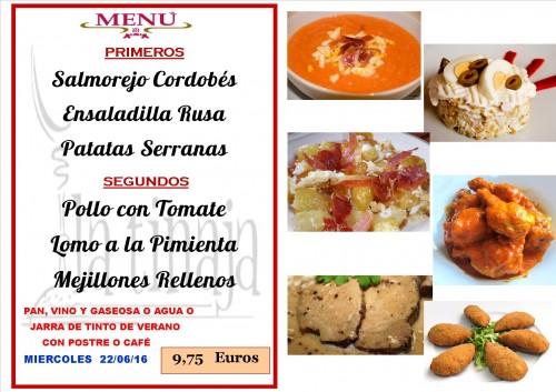 menu del  22  del  6