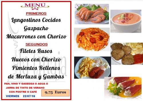 menu del  22  del   7