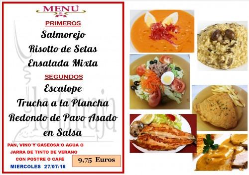 menu del  27  del   7