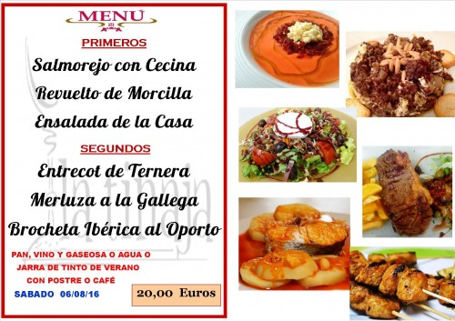 menu del  6   del  8