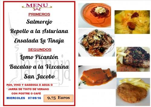 menu del  7   del  9