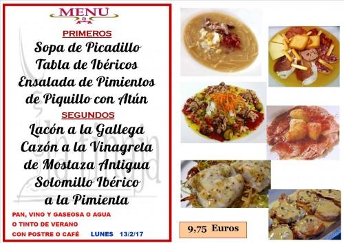 menu del 13 del 2