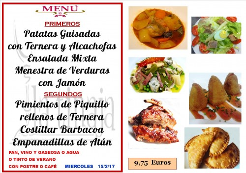 menu del 15 del 2
