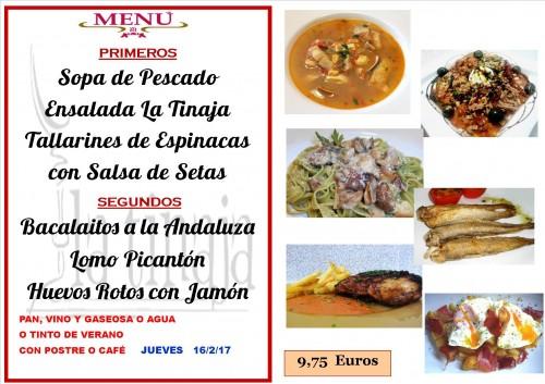 menu del 16 del 2