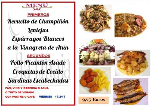 menu del 17 del 2