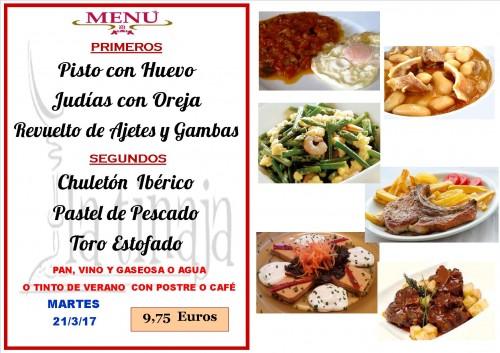 menu del 21 del 3