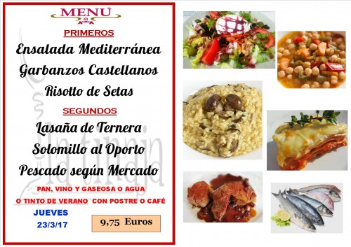 menu del 23 del 3