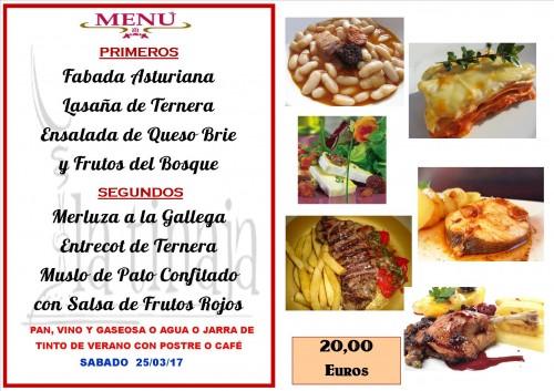 menu del 25 del 3