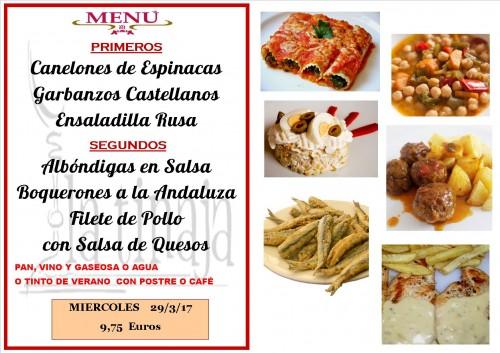 menu del 29 del 3