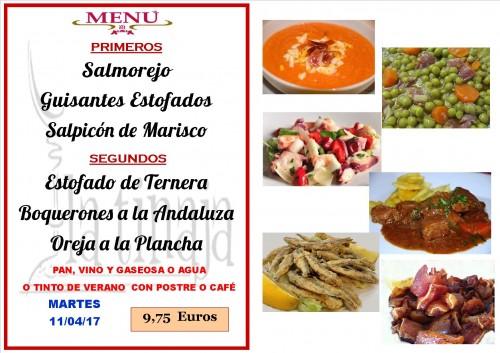 menu del 11 del 4