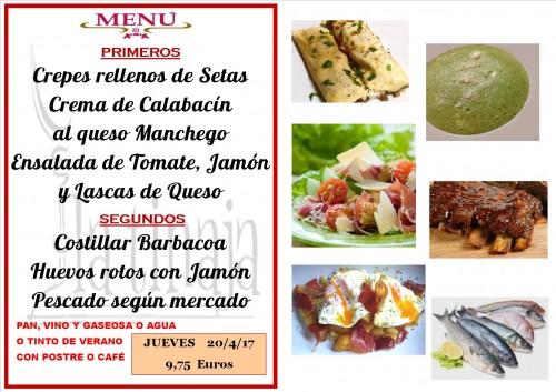 menu del 20 del 4