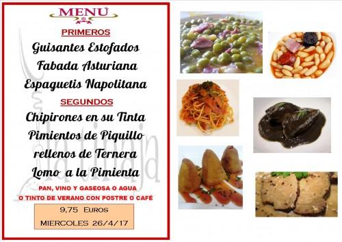 menu del 25 del 4