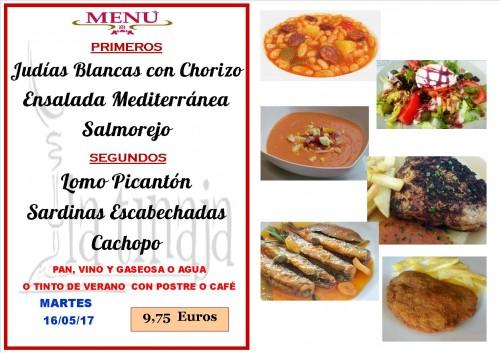 menu del 16 del 5