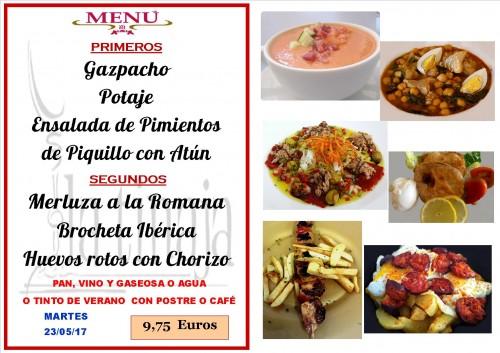 menu del 23 del 5