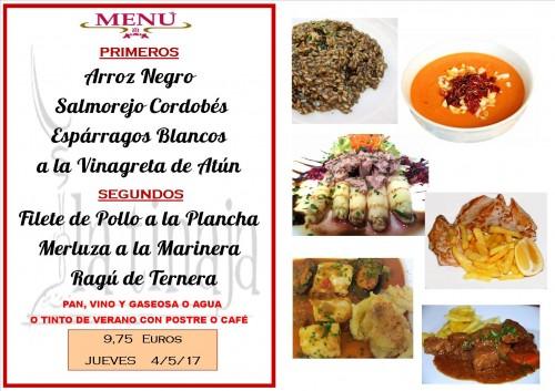 menu del 4 del 5