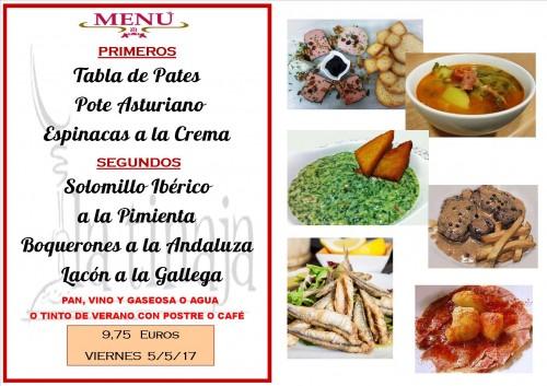 menu del 5 del 5