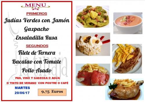 menu del 20 del 6