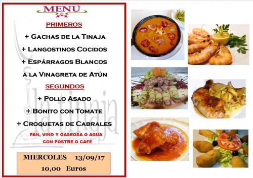 menu 13 del 9