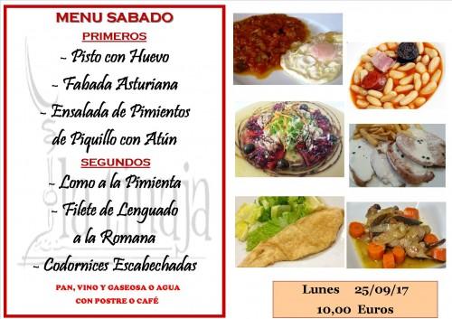 menu 25 del 9