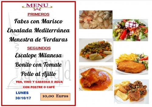 menu del 30 del 10