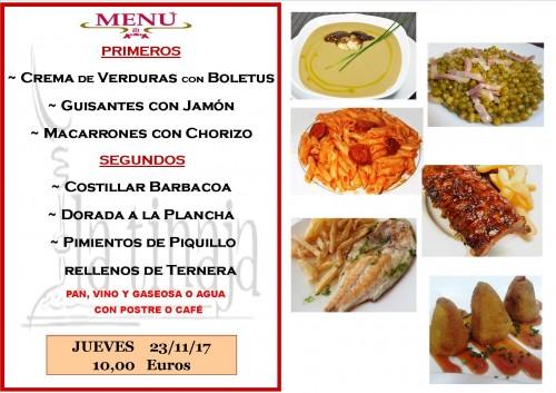 menu 23 del 11