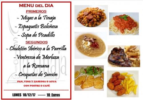 menu 18 del 12
