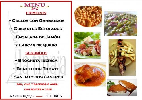 menu 2 del 1