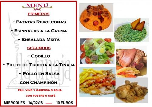 menu 14 del 2