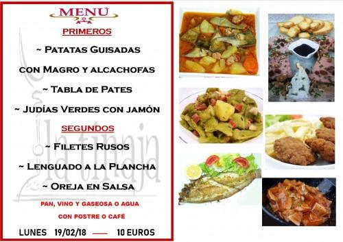 menu 19 del 2