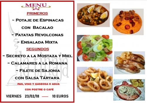 menu 23 del 2