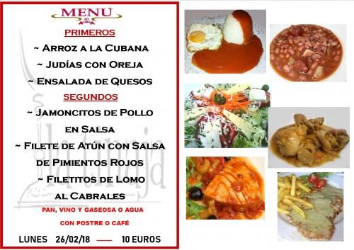 menu 26 del 2